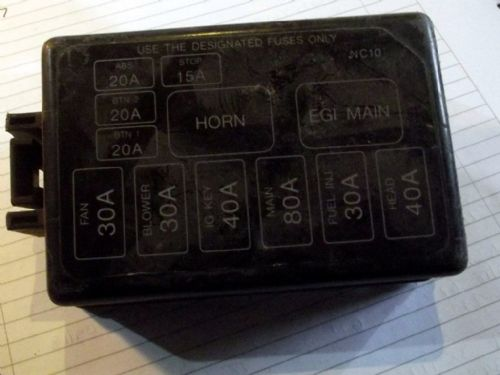 Fuse box lid / cover, Mazda MX-5 mk2, under bonnet, NC1066762, USED
